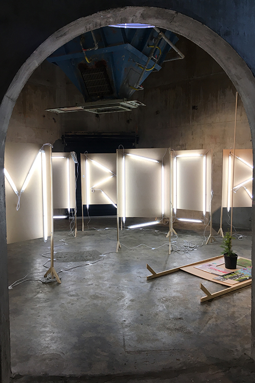 installation image from CREATIVE INDUSTRY/ART THERAPY/MONUMENT (MORDOR ), Auckland Artweek, Auckland (2017)