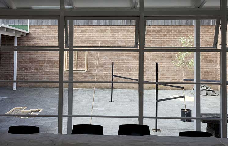 Anthony Cribb's artistic durational sculpture installation, Te Tuhi Centre for the Arts, Pakuranga, Auckland