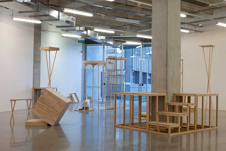 Anthony Cribb's sculptural installation and masters submission, ST PAUL ST Gallery 1, AUT, Auckland