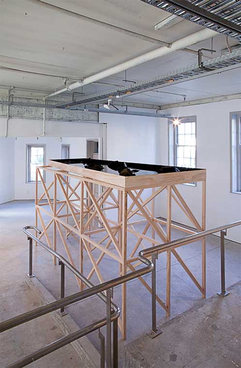 Anthony Cribb's large platform installation at ST PAUL ST Gallery 3, AUT, Auckland
